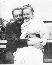 Catherine Gorboff avec son père, Nicolas Gorboff Moscou, vers 1910 Archives familiales (c)