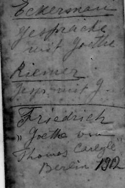 Verso d'une carte de visite avec des annotations de Nicolas Gorboff