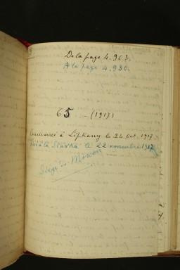 Pages du journal de Jules Legras. Photos S.Langlois.BM.Dijon