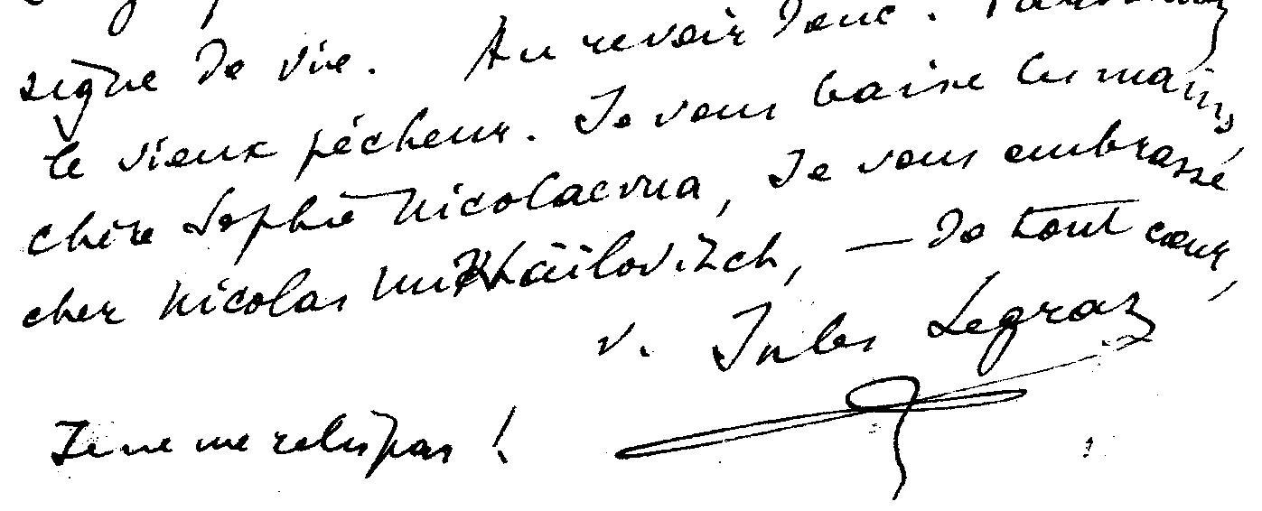 lettre JL0002